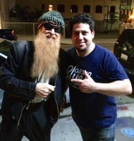 Rob Stone with Billy F. Gibbons in Hollywood