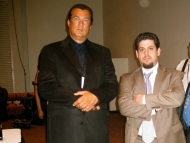 Rob Stone with Steven Segal