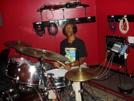 "Willie ""Big Eyes"" Smith at Rob Stone recording session 2009"