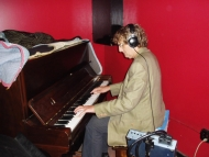 David Maxwell during Rob Stone recording session 2009