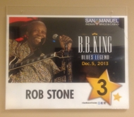 BB King Dressing Room sign
